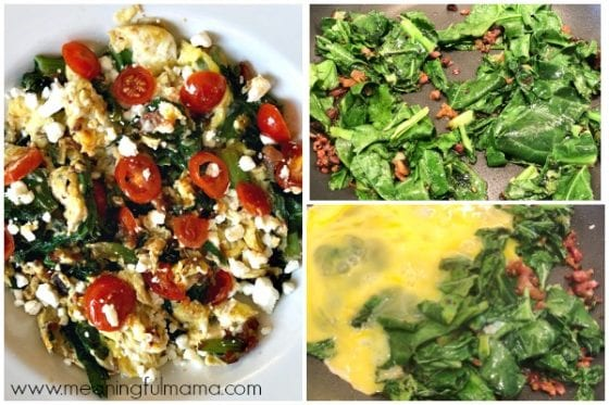 Steps for Cooking a Breakfast Scramble