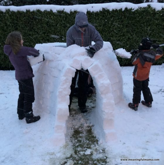 building the door of an igloo