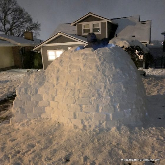 building the roof of an igloo
