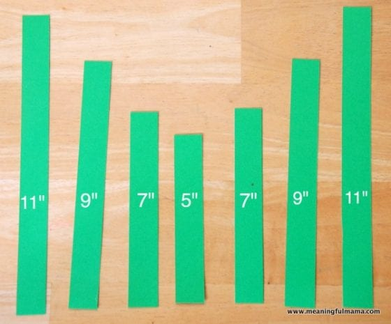 strips of green paper