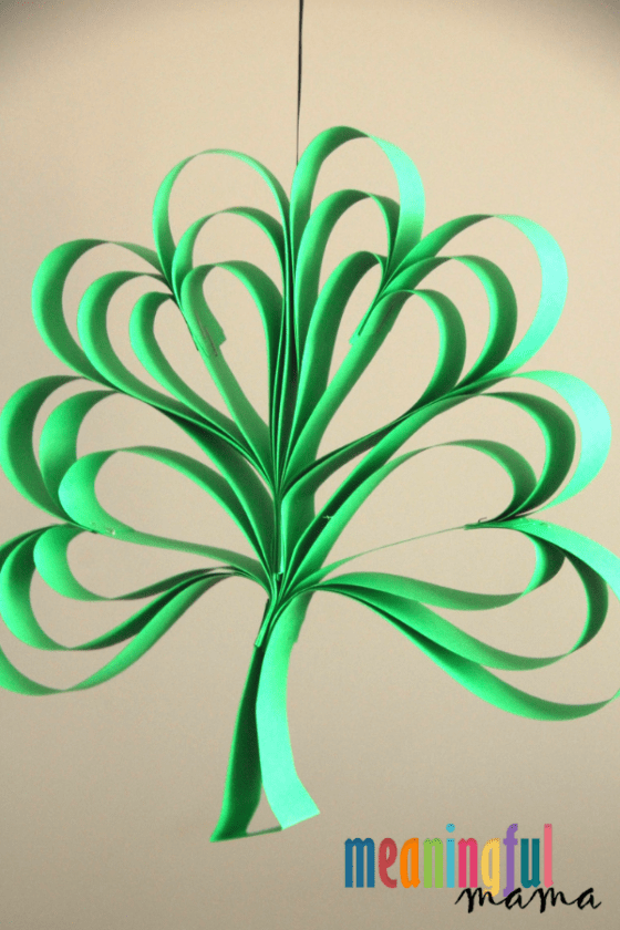 Green Four Leaf Clover Paper Craft