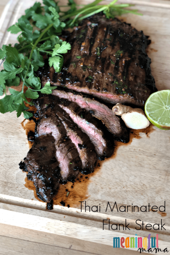 Thai Marinated Flank Steak Recipe