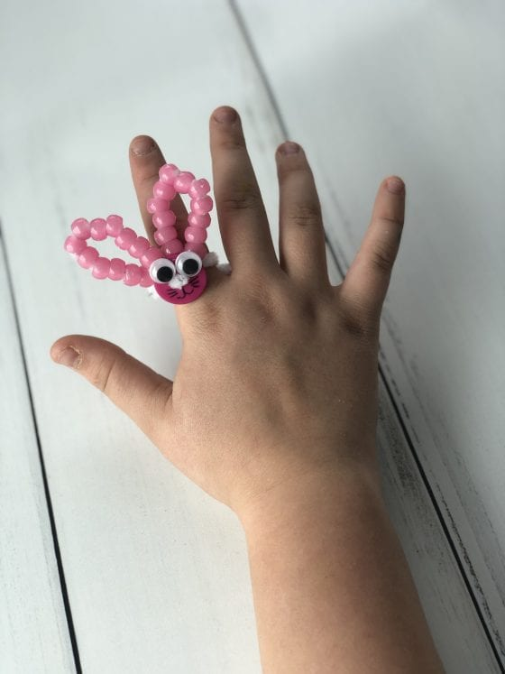 Pipe Cleaner Bunny Ring Craft For Easter