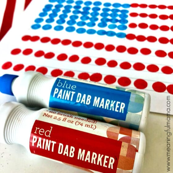 American Flag Craft with Do-A-Dot Paints