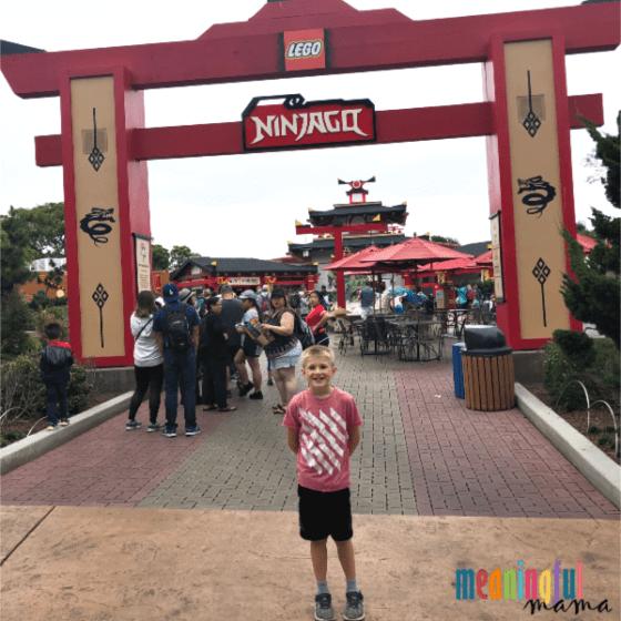 Boy in Ninjago Legoland