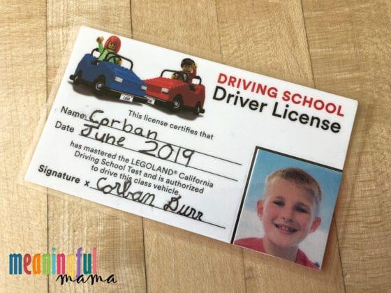 Legoland Driver's License DIY