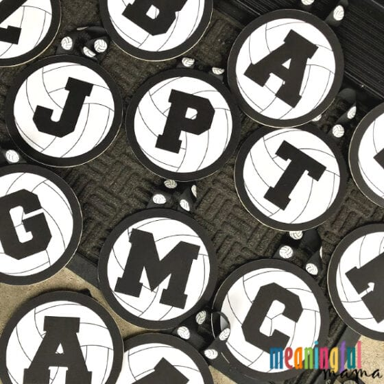 Black and White DIY Volleyball Locker Decorations