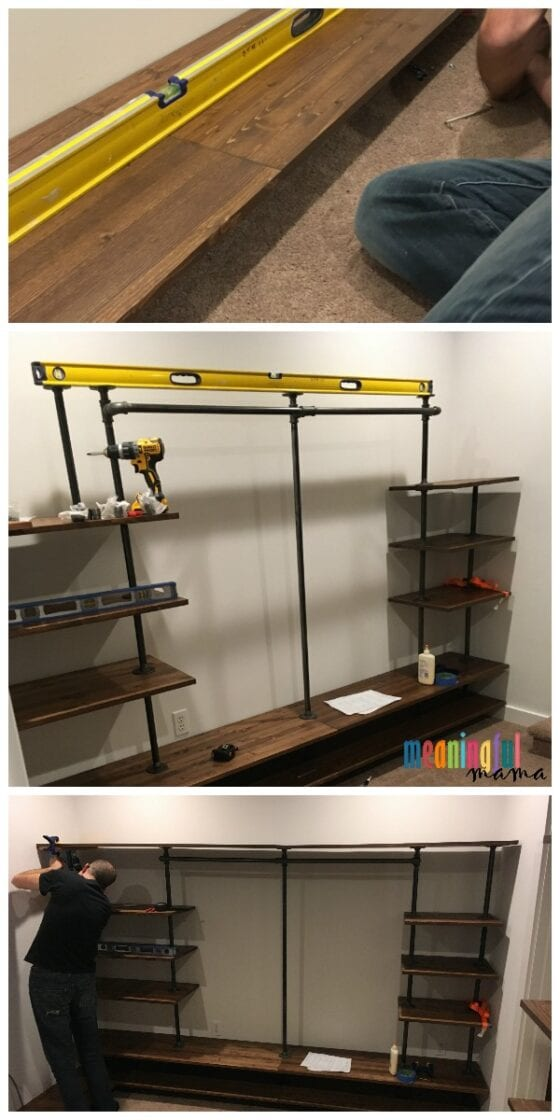 how to build DIY Industrial Pipe Walk-In Closet