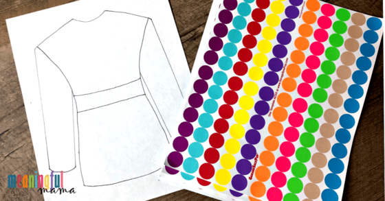 Free Joseph Coat Printable for Bible Craft