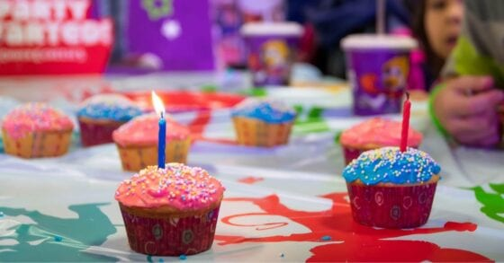 Cupcakes at Chuck E. Cheese's Birthday Party