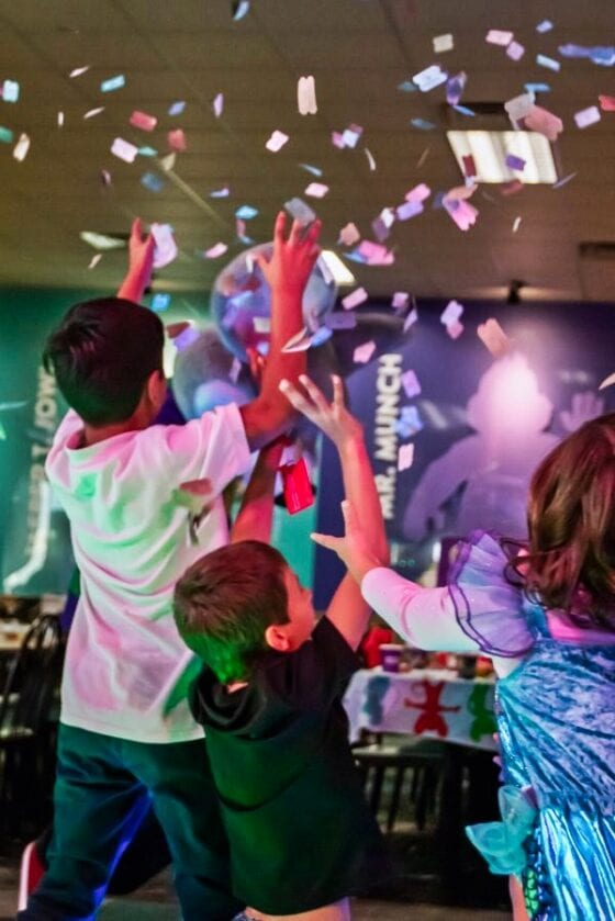 Kids Leaping for Tickets at Chuck E. Cheese's