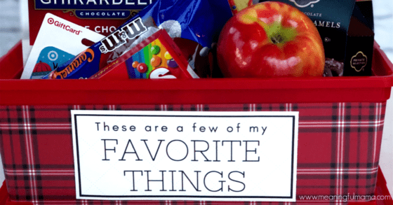 Thoughtful Teacher's Favorite Things Gift Idea