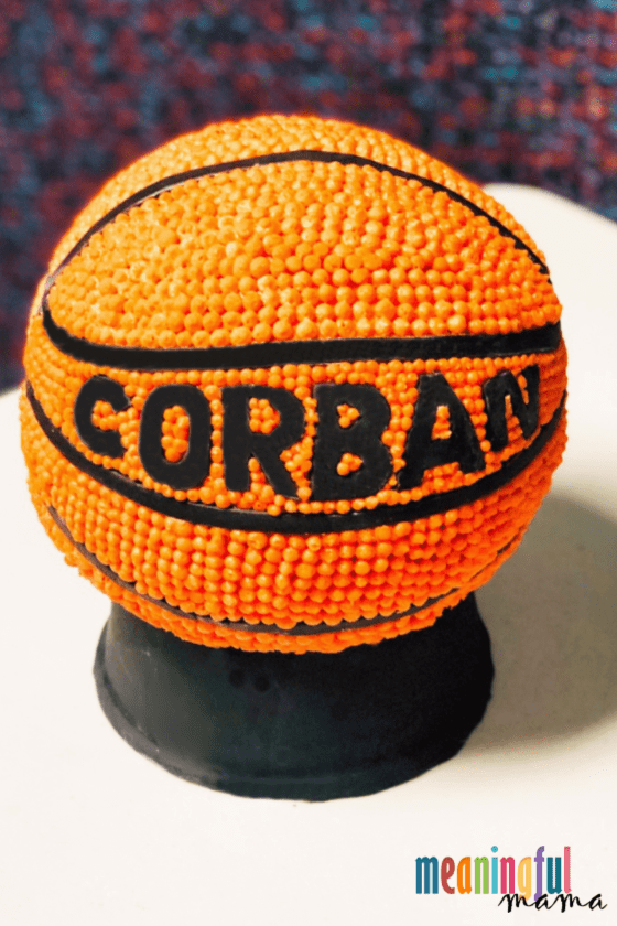 How to Make a Personalized Sphere Basketball Cake
