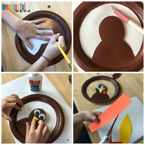 Paper Plate Turkey Hat Craft for Kids Tutorial