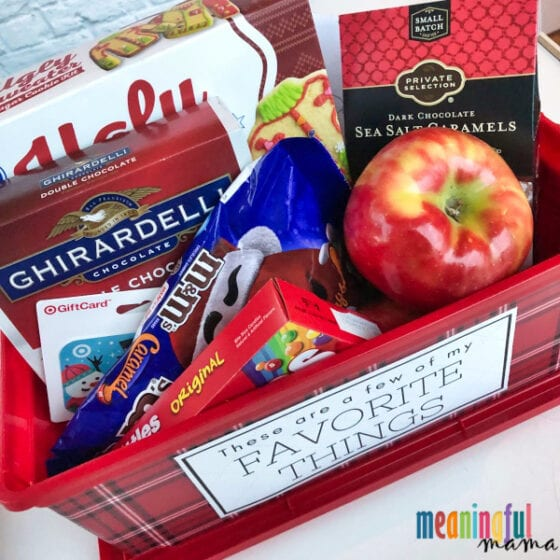 Thoughtful Teacher's Favorite Things Gift Idea - Box Filled with Goodies