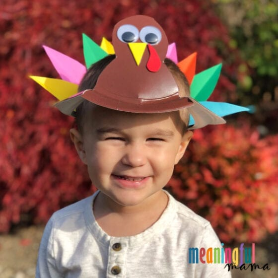 turkey hat craft for kids