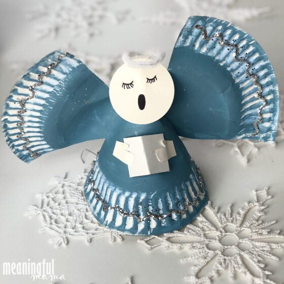 Angel Paper Plate Christmas Craft for Kids