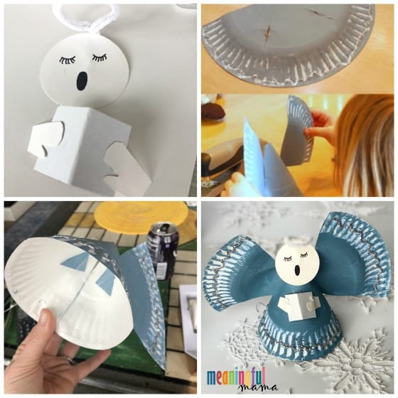 angel paper plate craft step by step tutorial