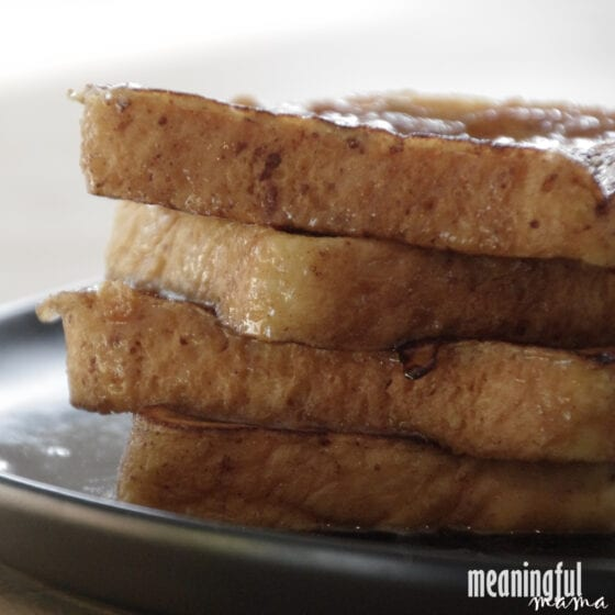 The Best Eggnog French Toast Recipe Stacked