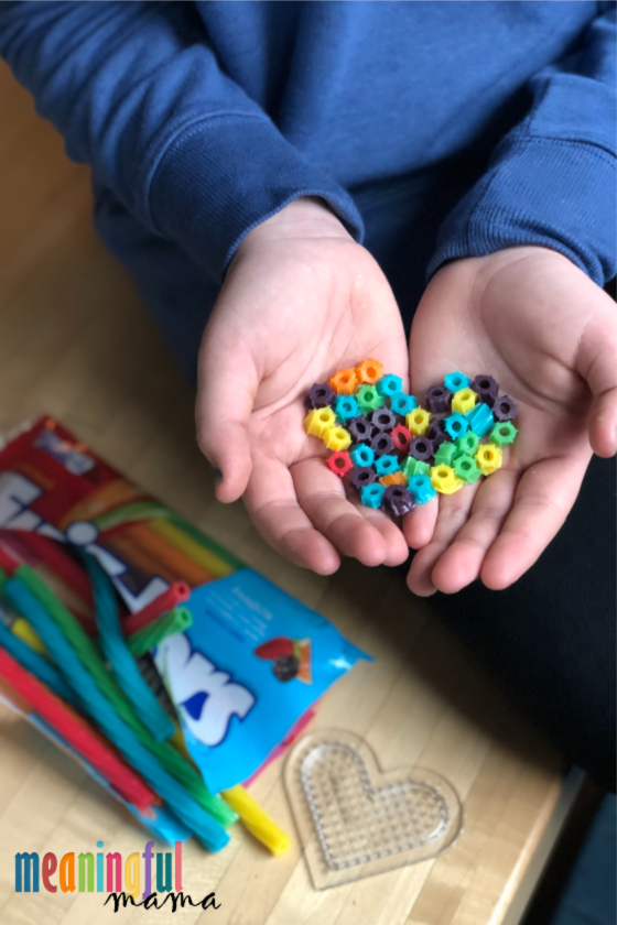 Edible Perler Bead Art with Twizzlers