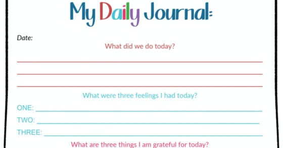 preview of my daily journal pagee