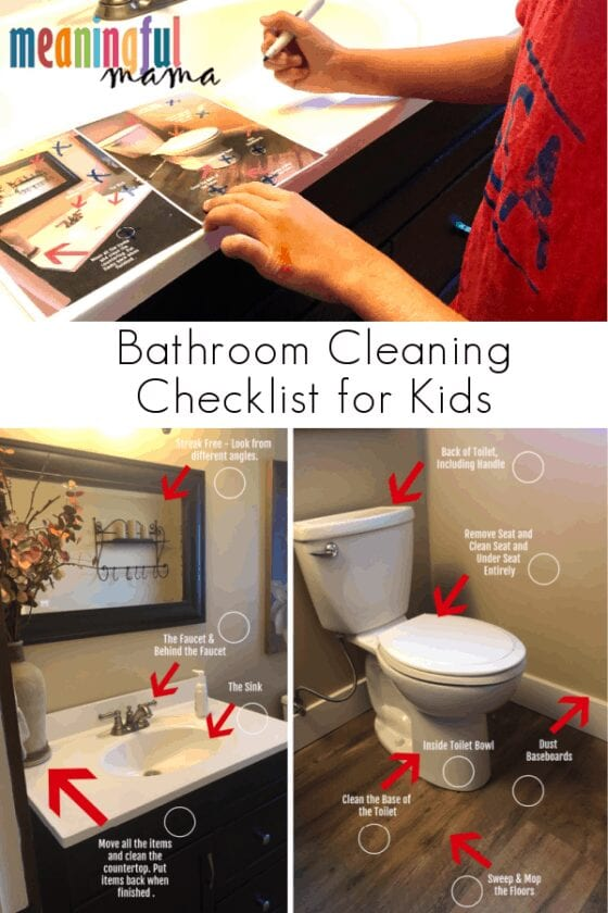 Bathroom Cleaning Checklist for Kids