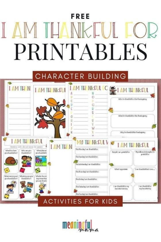 Free Thanksgiving Gratitude Printables for Kids