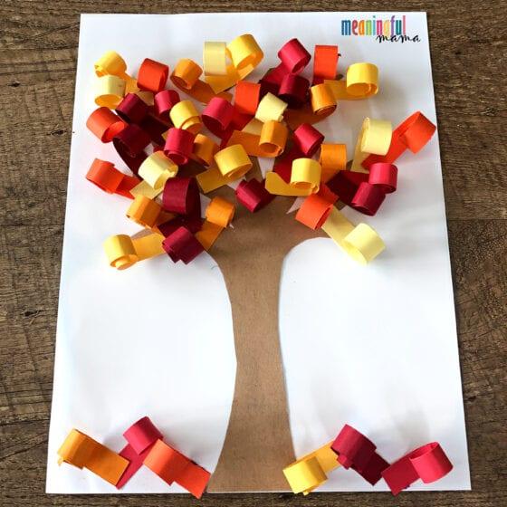 3D Fall Tree Paper Craft
