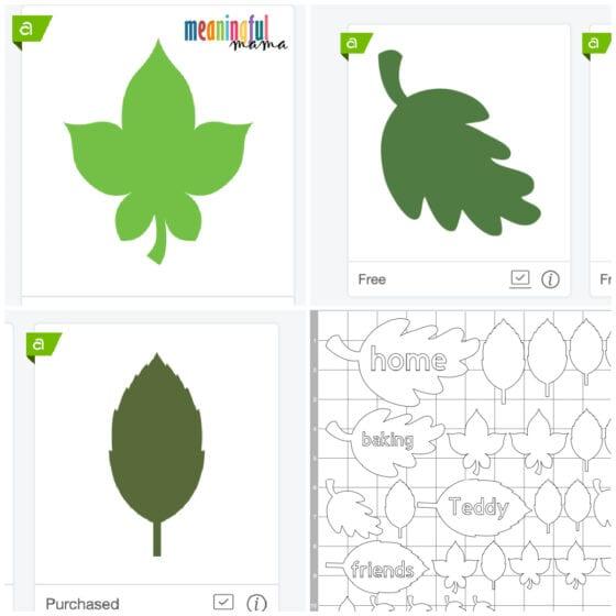 Leaf Thankfulness Project on Cricut