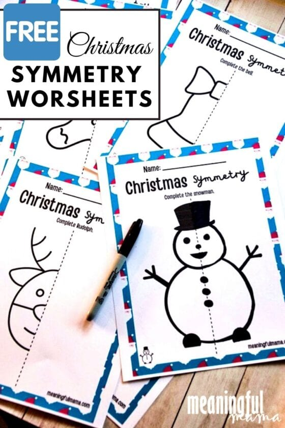 Free Christmas Symmetry Worksheet