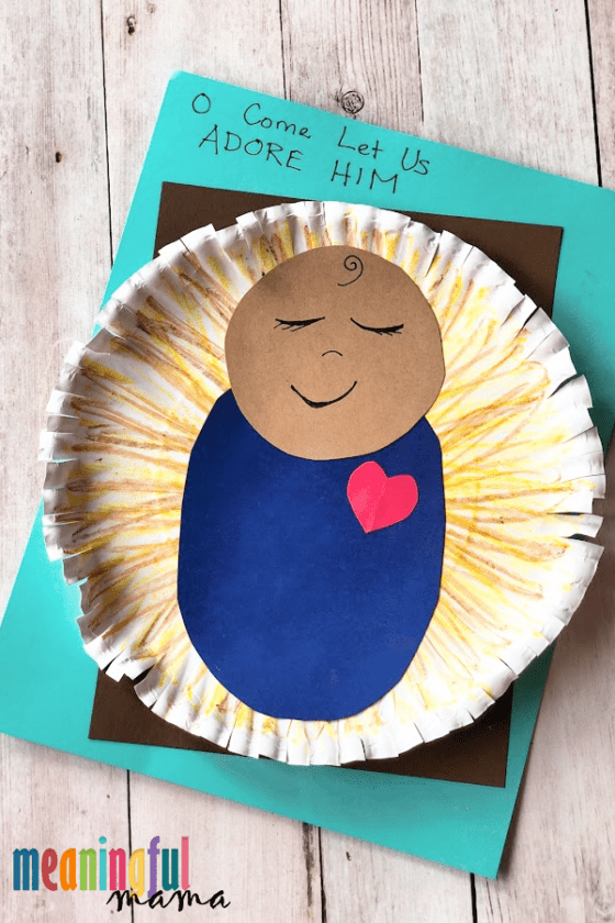 Easy Baby Jesus in Manger Craft