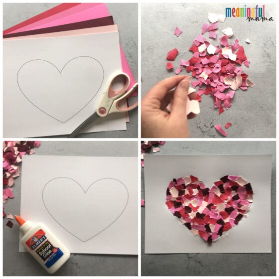 How to Make a Mosaic Heart Craft for Valentine's Day