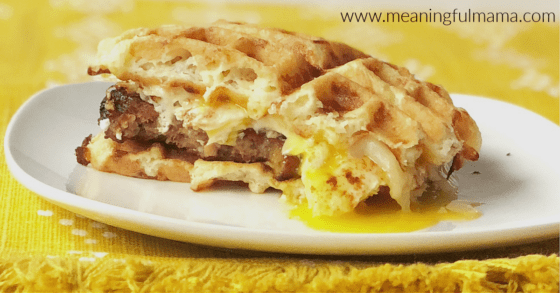 Sausage Chaffle Breakfast Sandwich Recipe