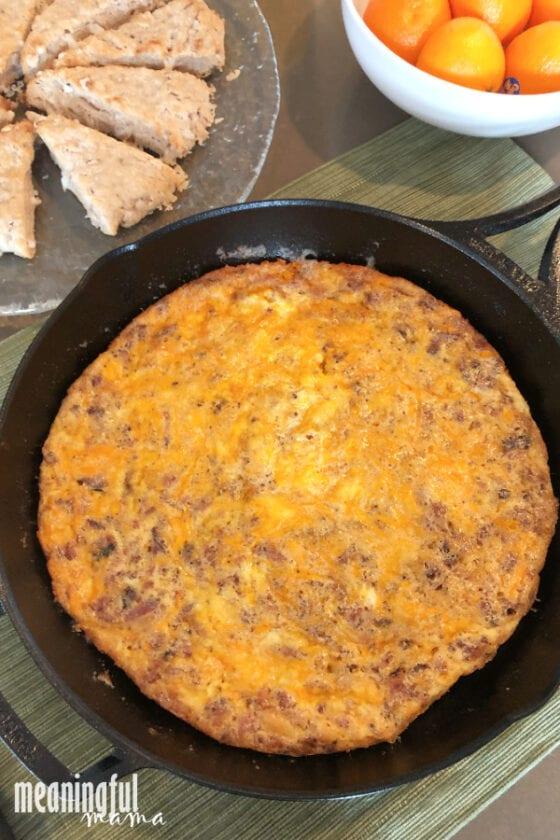 Keto Bacon and Cheese Frittata Recipe
