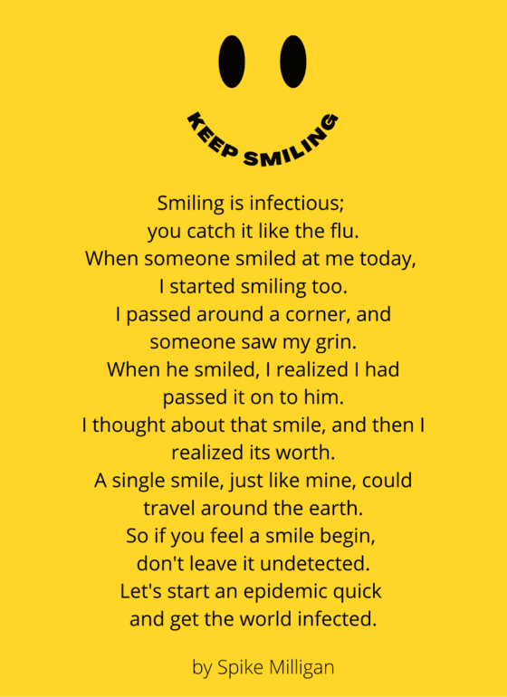Fun Game that Teaches Kids Kindness and smiling is infection poem