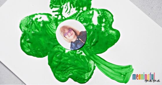 Apple Stamping St. Patrick's Day Shamrock Craft