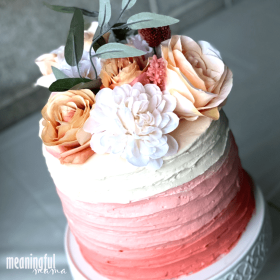 Beautiful Peach Ombre Cake