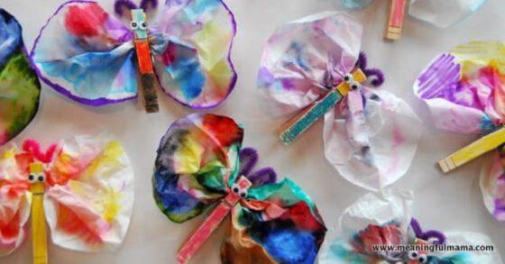 Coffee Filter Tie Dye Butterfly Craft