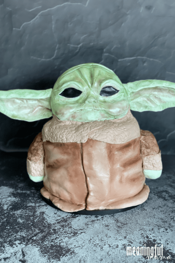 How to Make a Baby Yoda Cake