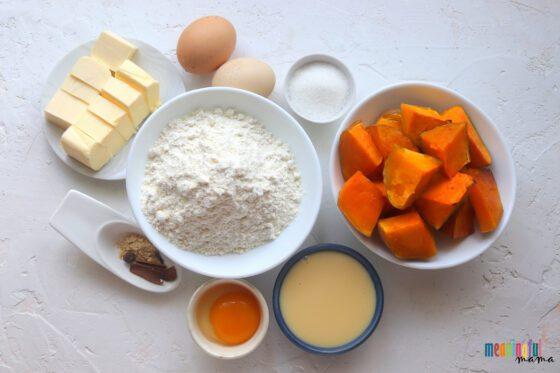 The Best Halloween Pumpkin Pie Recipe ingredients