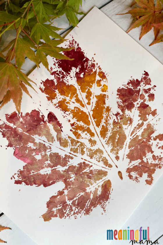 How to Make DIY Fall Leaf Prints with Kids